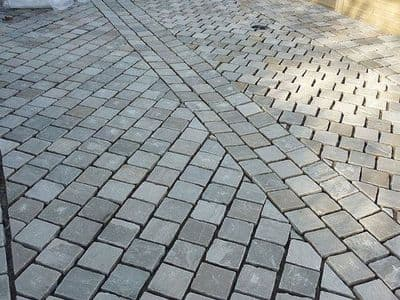 9 m2 Full Crate Kandla Grey Indian Sandstone Cobbles Setts 10 x 10