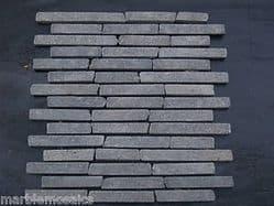Black Basalt Brickbone Marble Mosaic Stone Tiles