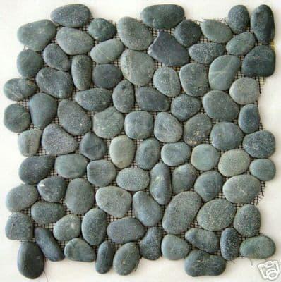 Black Natural  Pebble Mosaic Tiles