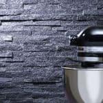 Black Quartz Sparkle Maxi  Split Face Mosaic Stone Z  Tile Cladding