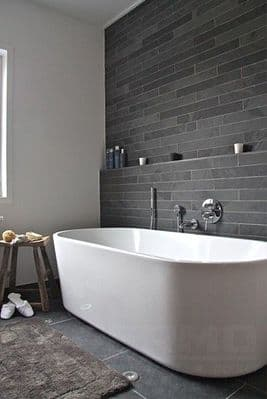 Brazilian Black Calibrated Slate Strips 600 mm x 60 mm only £ 19.99 per m2