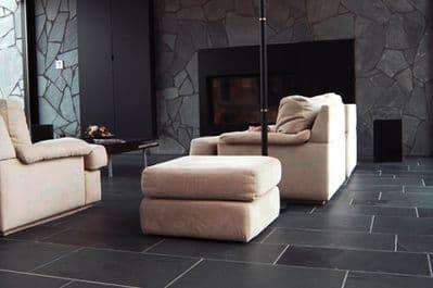 Calibrated Brazilian Black Extra Large Riven Slate Flooring 900 mm x 600 mm x 10 mm