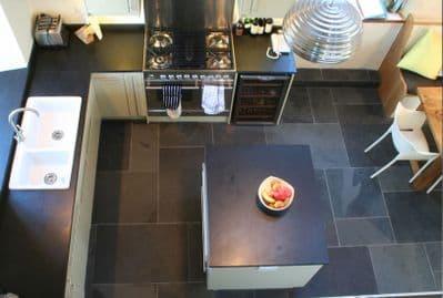 Calibrated Brazilian Black Riven Slate 600 mm x 600 mm x 10 mm natural stone flooring