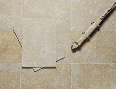 Dijon Tumbled  limestone floor / wall tiles   900 mm x 600 mm x 15 mm for flooring