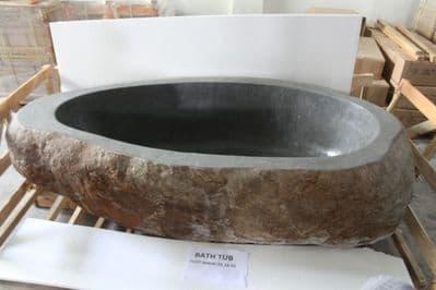 Freestanding River Rock Circular Granite Bath 210 cm x 180  cm x 59 cm