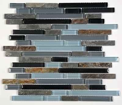 Glass & Limestone Brick Mosaic ( gd0025 )