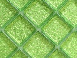 GLITTER GREEN GLASS MOSAIC TILES ( V02)