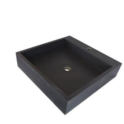 Honed Basalt Quadro Basin 50 cm x 50 cm