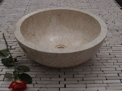 Ibyza Cream Marble Wash Basin 40 cm ( wa002 )