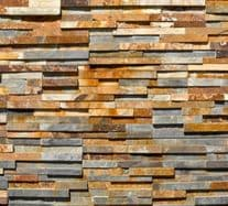 Multicolour Rustic Slate Split Face Mosaic Tiles for Staircases or Garden stunning 3D Tiles
