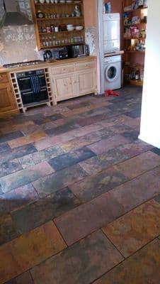 Multicolour (Sheera) Rustic  Riven Slate floor  tiles 600 x 300 mm
