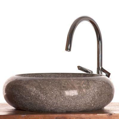 Napoli Grey Marble Stone Sink 40 cm ( wa035 )