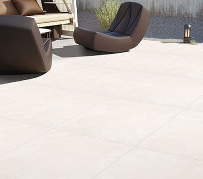 Norwegian White Porcelain Paving  Slabs  900 x 600 x 20 mm
