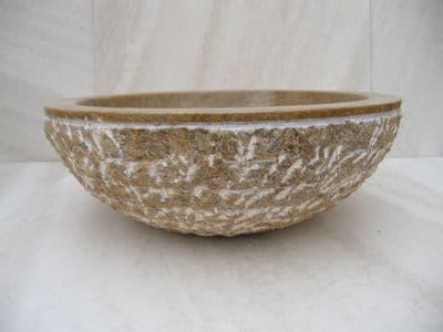 Onyx Marble Rustic  Round Sink 40 cm