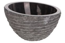 Pisa Black Marble Stone Wash Basin 40 cm