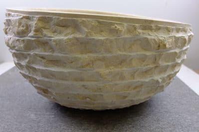 Pisa Cream/ Beige Marble Stone Wash Basin 40 cm x 26 cm