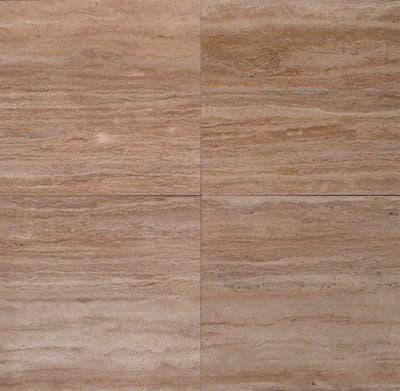 Premium Vein Cut Walnut Travertine Filled & Polished 610 x 406