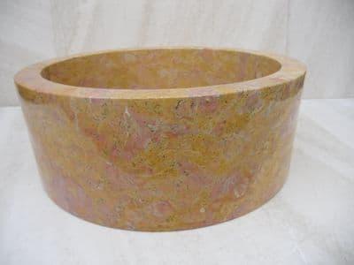 Red Marble Drum Sink 40 cm