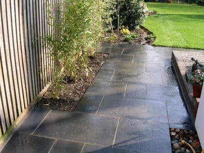 Sample Black Limestone Paving