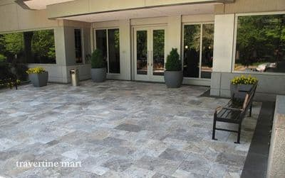 Sample Offcut Silver Travertine Outdoor Pavers Calibrated