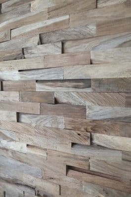 Sample Wooden Teak  Split Face Wall Tiles