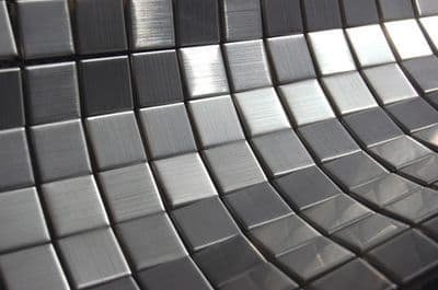 Stainless Steel Mosaic Tile Full Sheet 23 mm x 23 mm x 4 mm ( cp1317 )