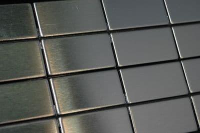 Stainless Steel Mosaic Tile Full Sheet 23 mm x 48 mm x 4 mm ( model cp1318 )