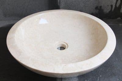 The Calypso Cream 43 cm x 12 cm Marble Washbasin