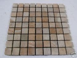 Tumbled Sandstone Wall/Floor Tiles 30mm by 30mm ( 3 x 3 cm)