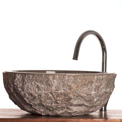 Verona Grey Marble Stone Sink for bathrooms  40 cm ( wa066 )