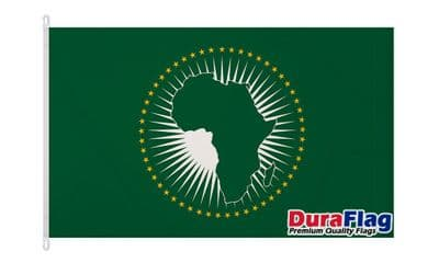 AFRICAN UNION  DURAFLAG WITH CLIPS 150cm x 90cm
