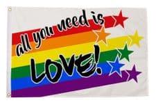 ALL YOU NEED IS LOVE - 5 X 3 FLAG