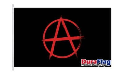 ANARCHY RED Dura Flag with Clips  150cm x 90cm