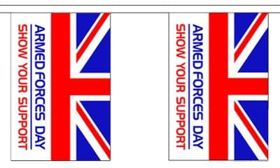 ARMED FORCES DAY BUNTING - 9 METRES 30 FLAGS