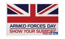 ARMED FORCES DAY  DURAFLAG WITH CLIPS  150cm x 90cm