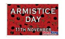 ARMISTICE DAY DURAFLAG WITH CLIPS 150cm x 90cm