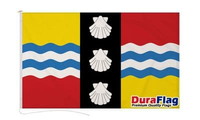 BEDFORDSHIRE DURAFLAG WITH CLIPS  150cm x 90cm