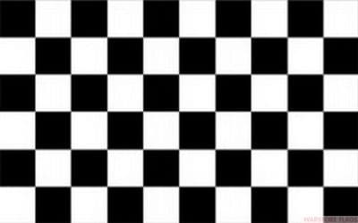 BLACK AND WHITE CHECKERED NYLON DELUXE QUALITY - 5 X 3 FLAG