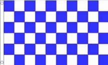 BLUE & WHITE CHECKERED - 8 X 5 FLAG