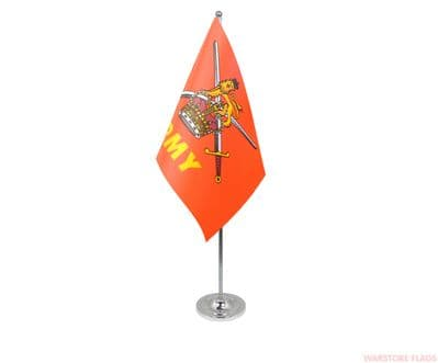 BRITISH ARMY - DELUXE SATIN TABLE FLAG