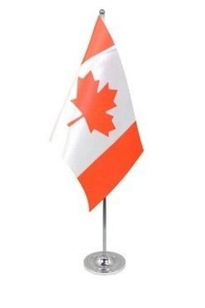 CANADA - DELUXE SATIN TABLE FLAG
