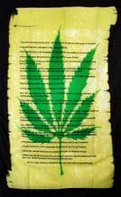 CANNABIS DECLARATION SCROLL - 5 X 3 FLAG