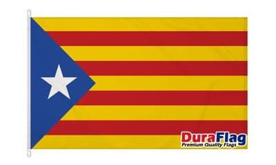CATALAN INDEPENDANCE DURAFLAG WITH CLIPS 150cm x 90cm