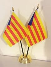 "CATALAN INDEPENDENCE - TABLE FLAG TWIN SET 6"" X 4"""