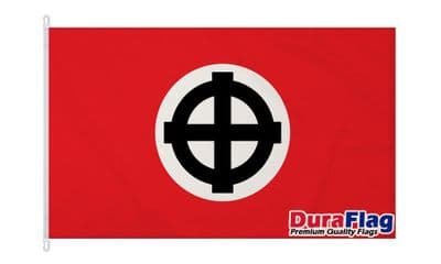 CELTIC CROSS RED DURAFLAG WITH CLIPS  150cm x 90cm