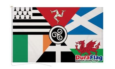 CELTIC NATIONS  DURAFLAG WITH CLIPS  150cm x 90cm