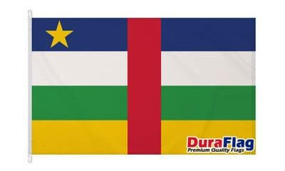 CENTRAL AFRICAN REPUBLIC  DURAFLAG WITH CLIPS  150cm x 90cm