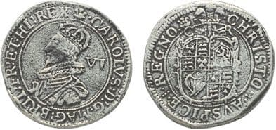 CHARLES I SIXPENCE (REPLICA) COIN
