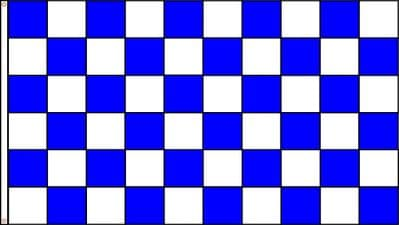 CHECKERED BLUE & WHITE - 18