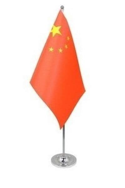 CHINA - DELUXE SATIN TABLE FLAG